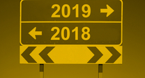 calendar showing 2018 turning into 2019