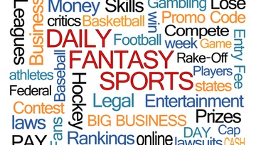 collage of words dealing in daily fantasy sports