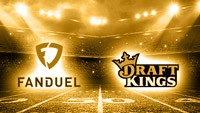the logos of FanDuel and DraftKings