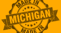 """Made in Michigan"" stamp"