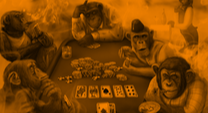 monkeys playing poker